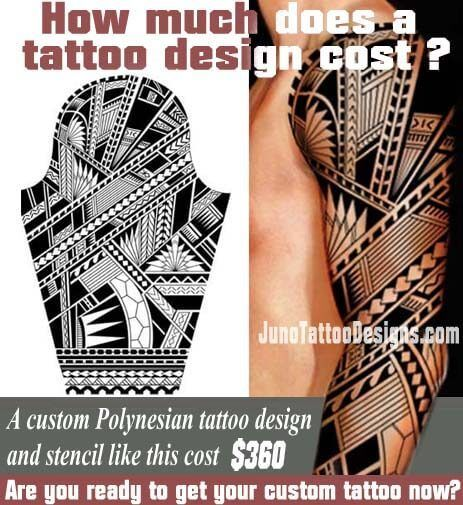 how does much a tattoo cost, polynesian samoan arm tattoo, juno tattoo design