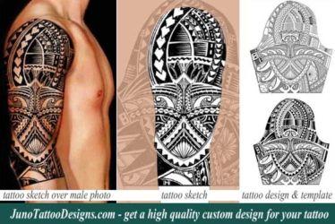 Tim Cahill tattoo- custom polynesian tattoo template