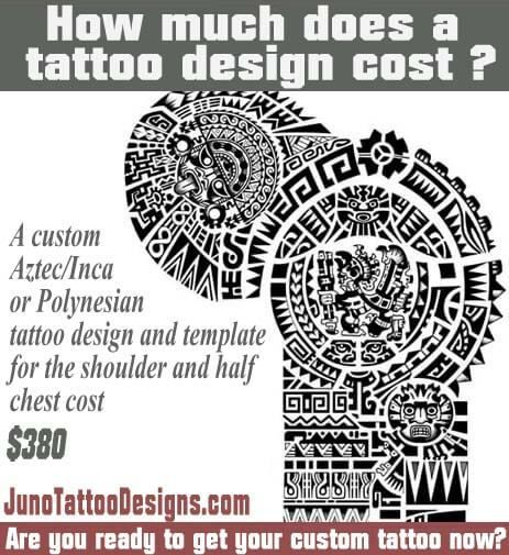 how does much a tattoo cost, aztec mayan inca tattoo, juno tattoo design
