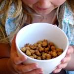 Sweet n' Crunchy Roasted Chickpeas (4 Flavor Varieties!)