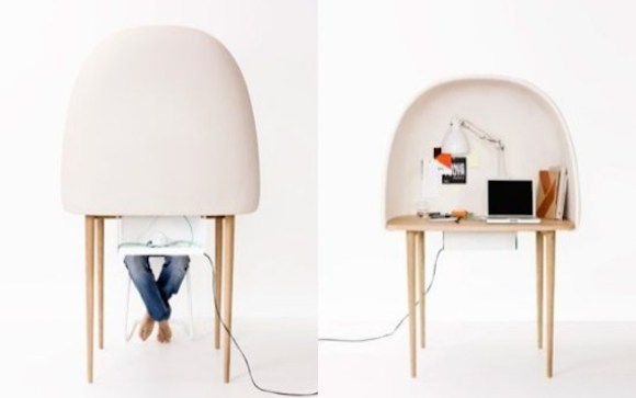 working booth