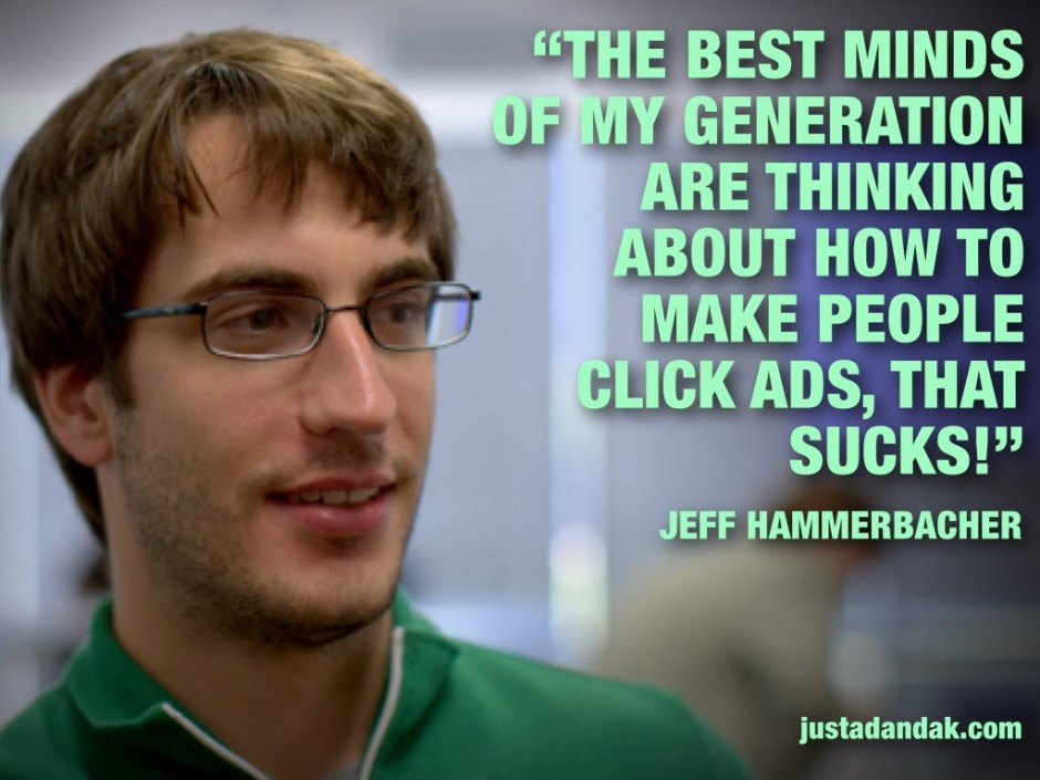 jeff hammerbacher ad quote