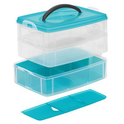 Room Essentials 3 Layer Organizer - Blue (Medium).Opens in a new window