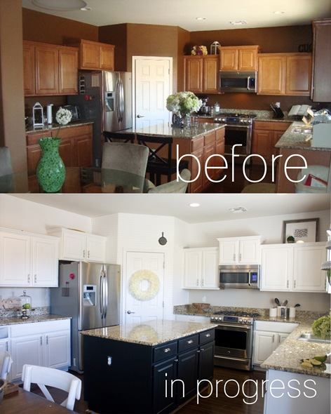 Kitchen Before and Progress