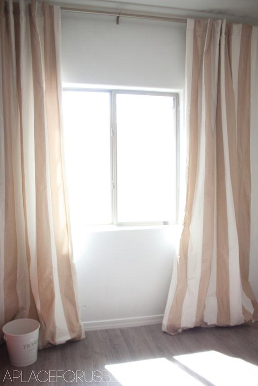 Light-Brown-Tan-Striped-Faux-Silk-Taffeta