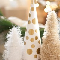 DIY Eyelash Yarn Christmas Trees+Blog Hop