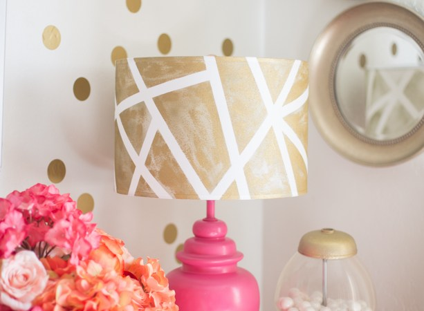DIY Lampshades- Gold Geometric Shade