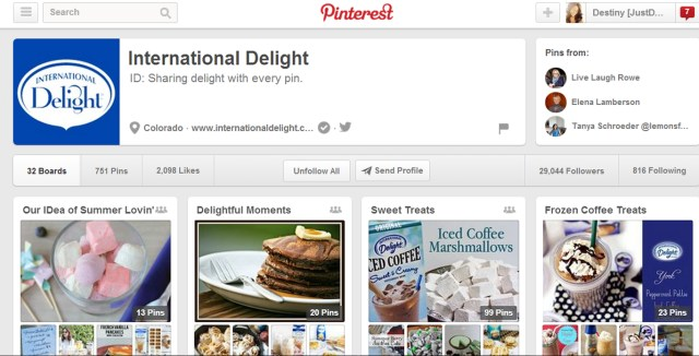 International Delight Post Pictures