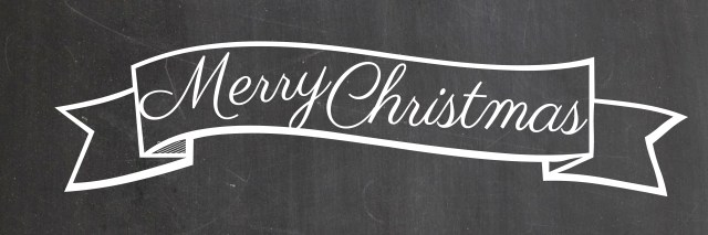 Christmas Banner Black and White