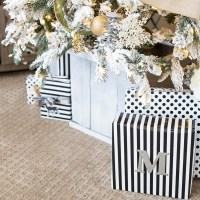 DIY Christmas Tree Planter Box
