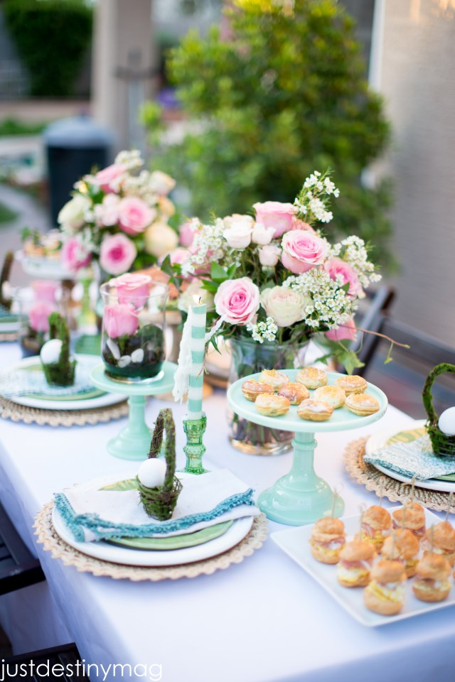 Easter Table with World Market Plates