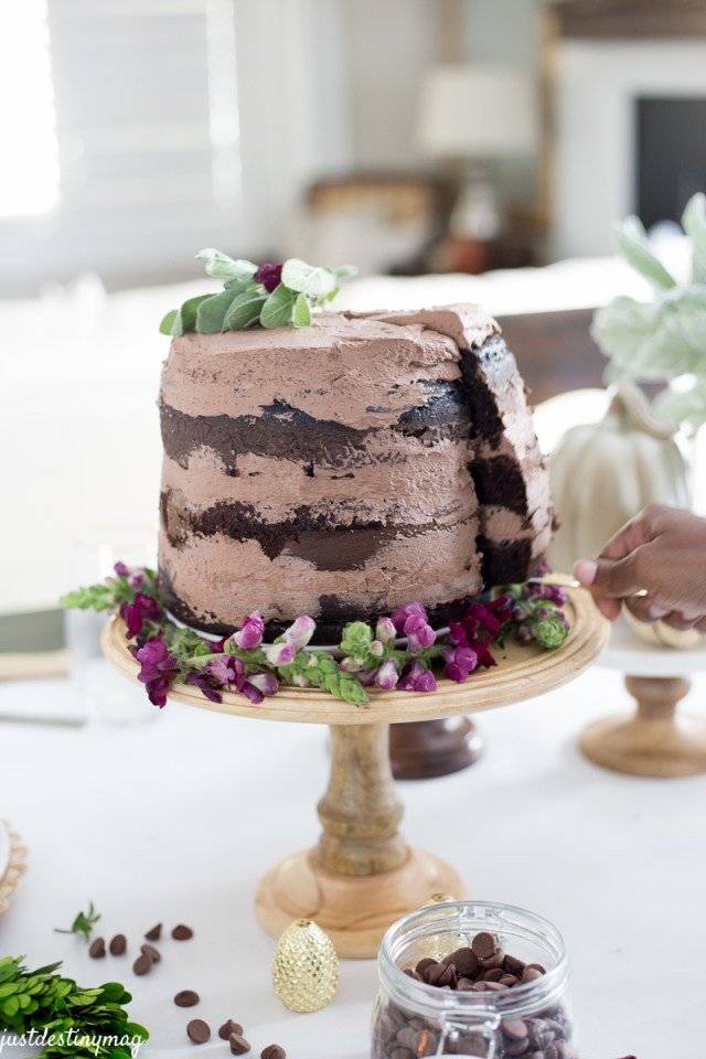 Chocolate Naked Cake - Autumn Wedding_-15