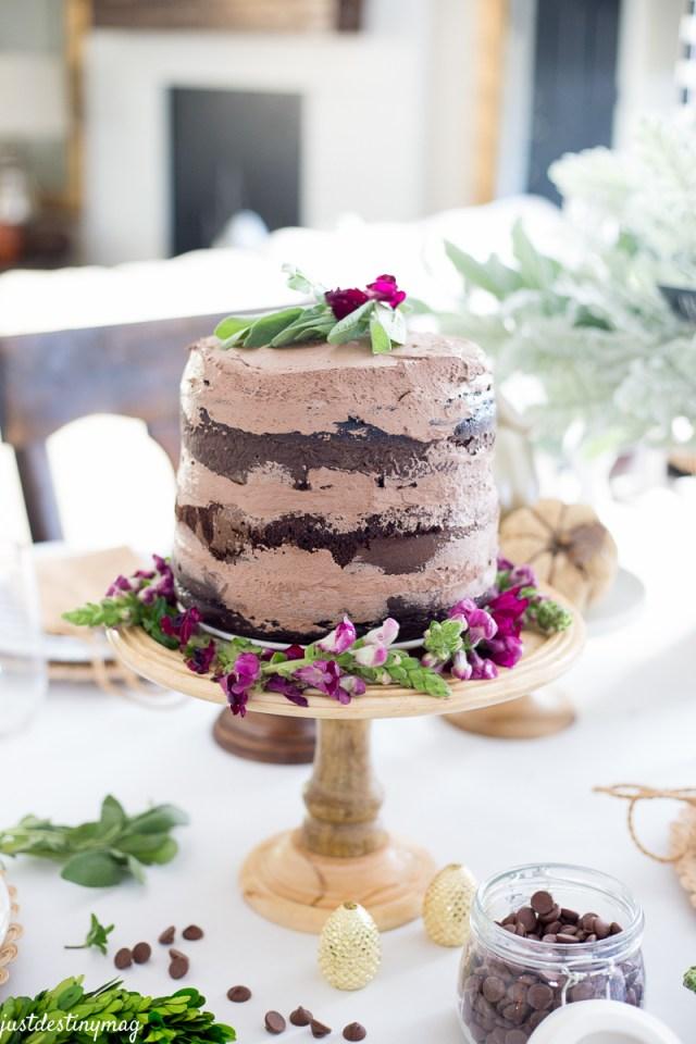 Chocolate Naked Cake - Autumn Wedding_-3