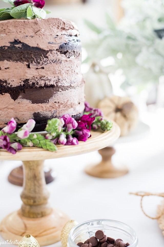 Chocolate Naked Cake - Autumn Wedding_-7