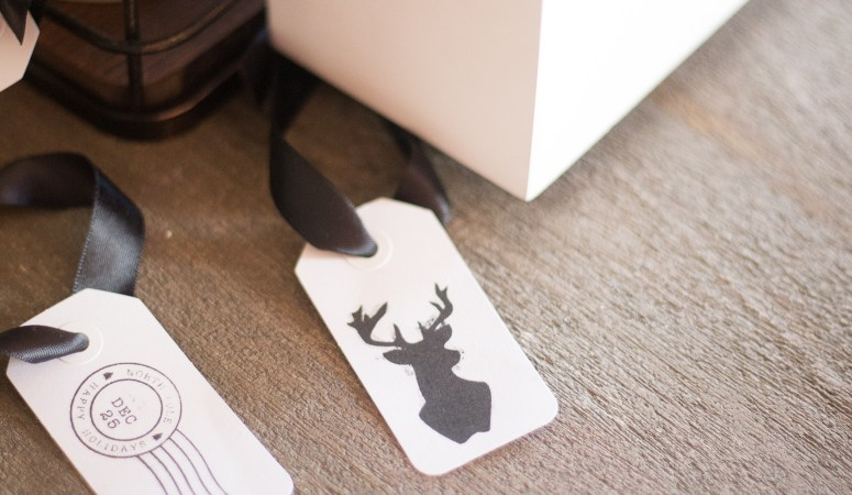 DIY Gift Tag Stamps with MINT