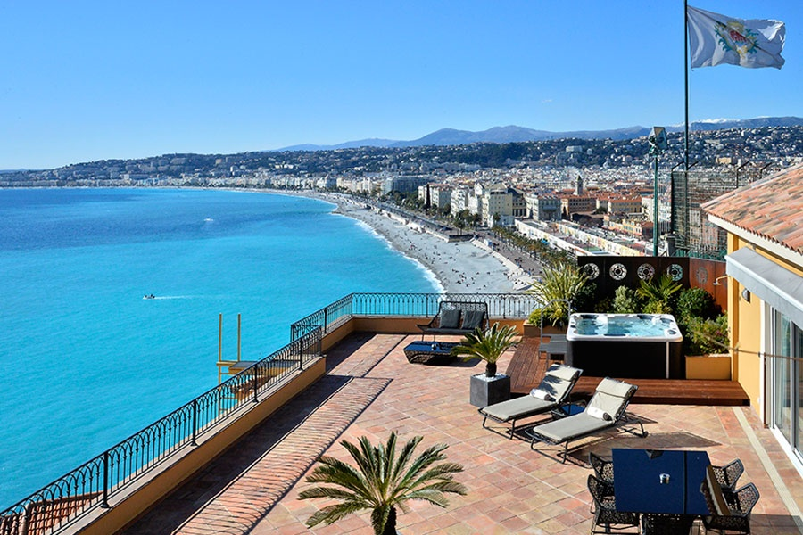 Hotel-la-Perouse-Nice-vue-terrasse - awesome view from the terrace