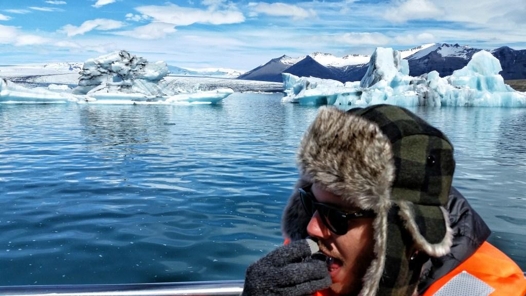 Ice tasting in Jokulsarlon