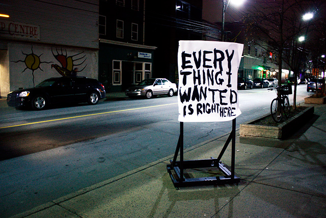Everything I Wanted Is Right Here (street installation shot) | Broken City Lab