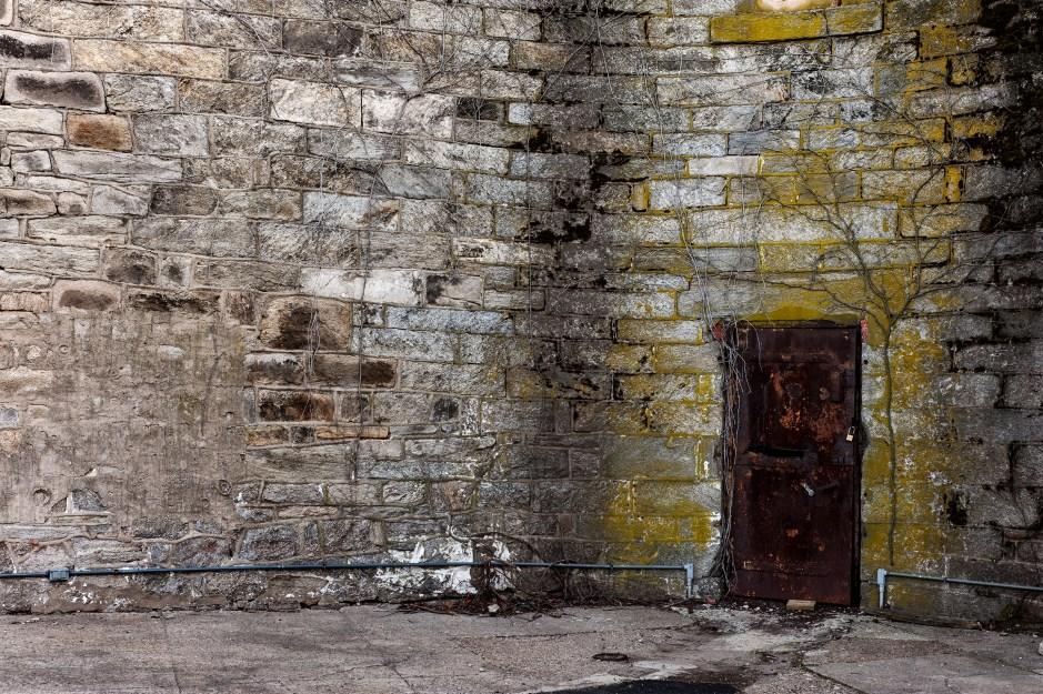 Rusty Red Prison Door