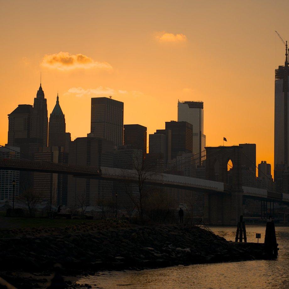 New York City Sunset Silhouette
