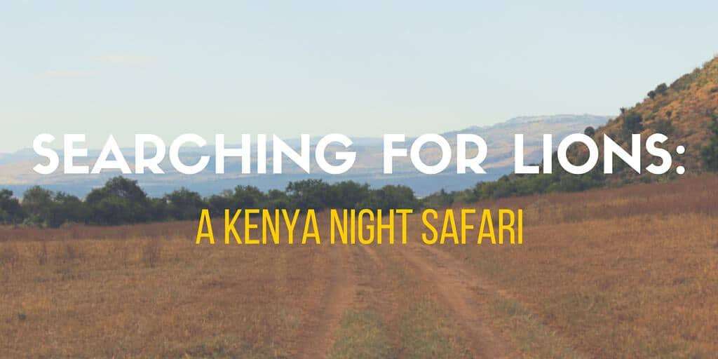 Searching for Lions: A Kenya Night Safari