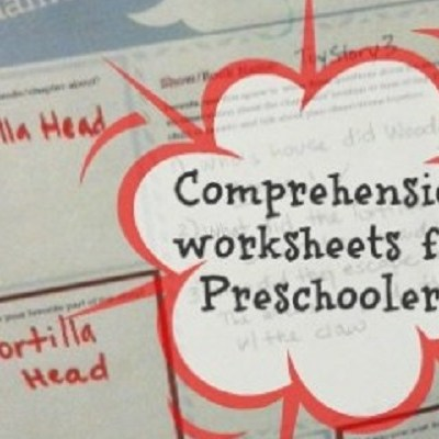 Reading comprehension for preschoolers {free printable}