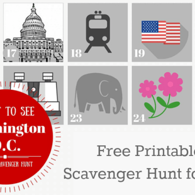 Washington DC Photo Scavenger Hunt Printable from Just is a Four Letter Word