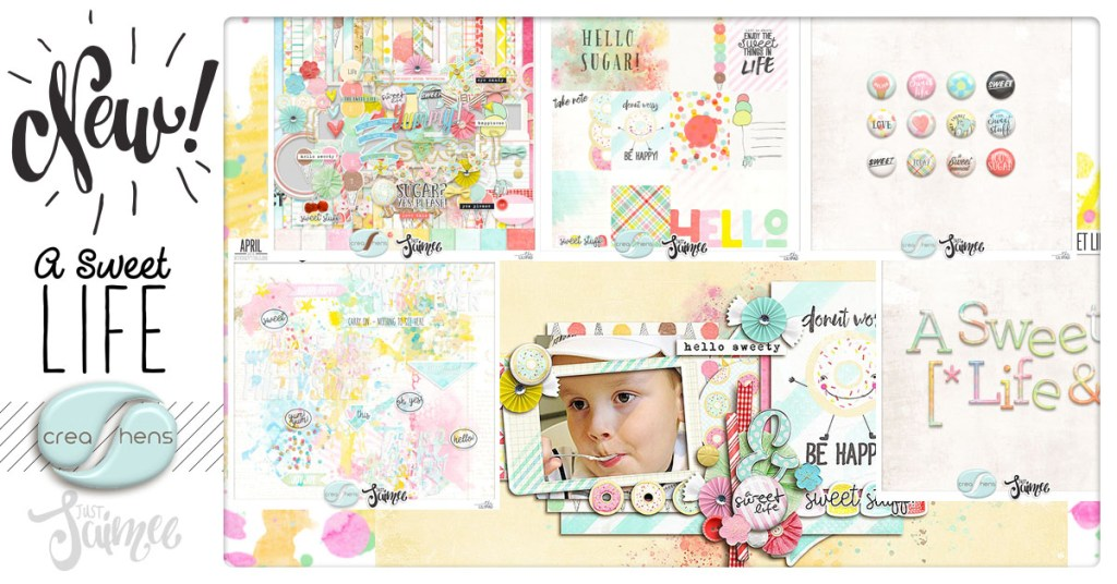 A Sweet Life Scrapbook Kit Collab with creashens