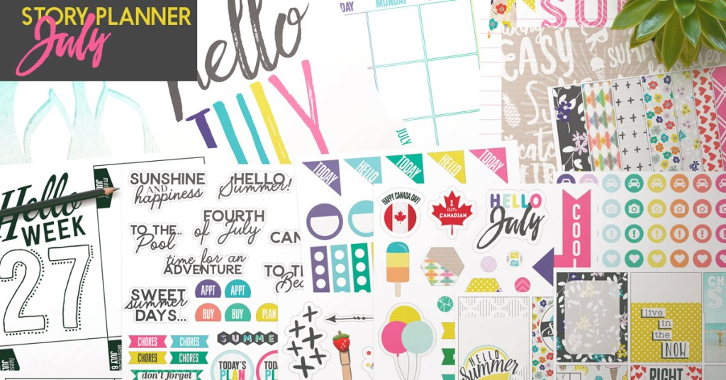 July Planner Kit + Sketched Templates 20% off