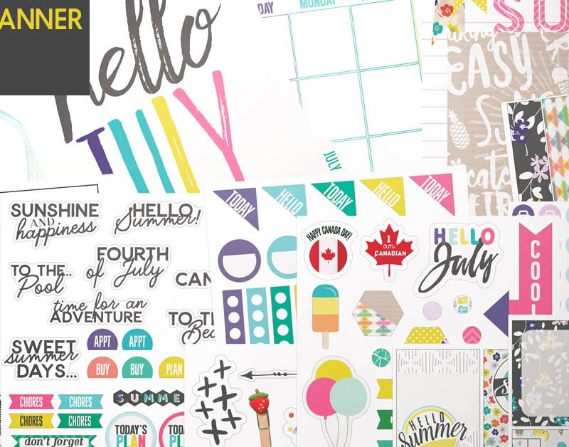 planner kit july
