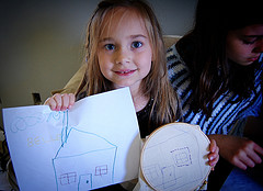 Handmade Christmas Idea:  How to Embroider a Child's Drawing