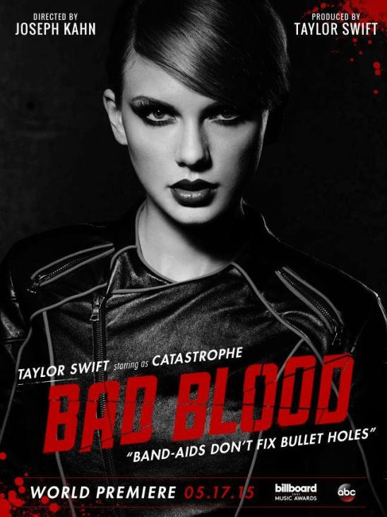 taylor swift bad blood music video poster