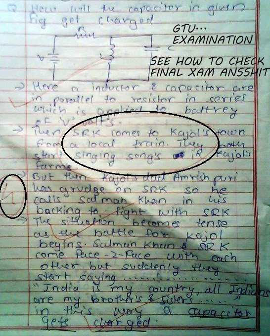 Indian Movie stories in examination papers