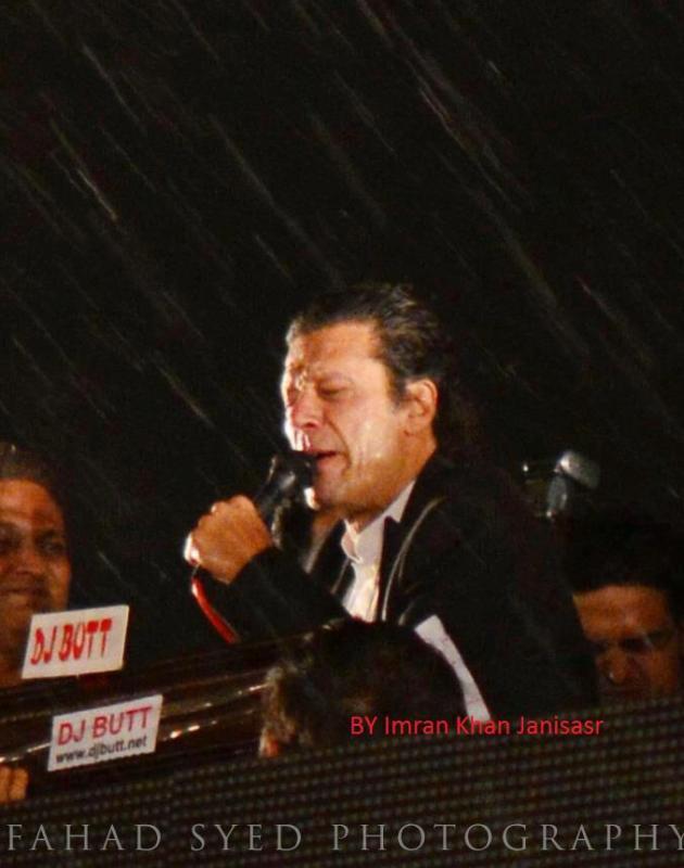 imran khan in Lahore Jalsa