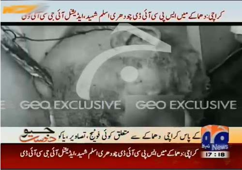 ch aslam dead body picture