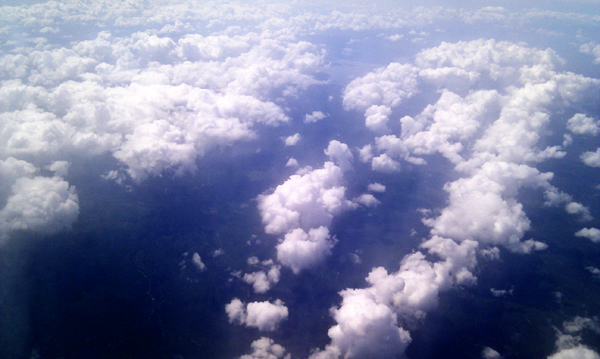 Clouds from above, somewhere over Quebec