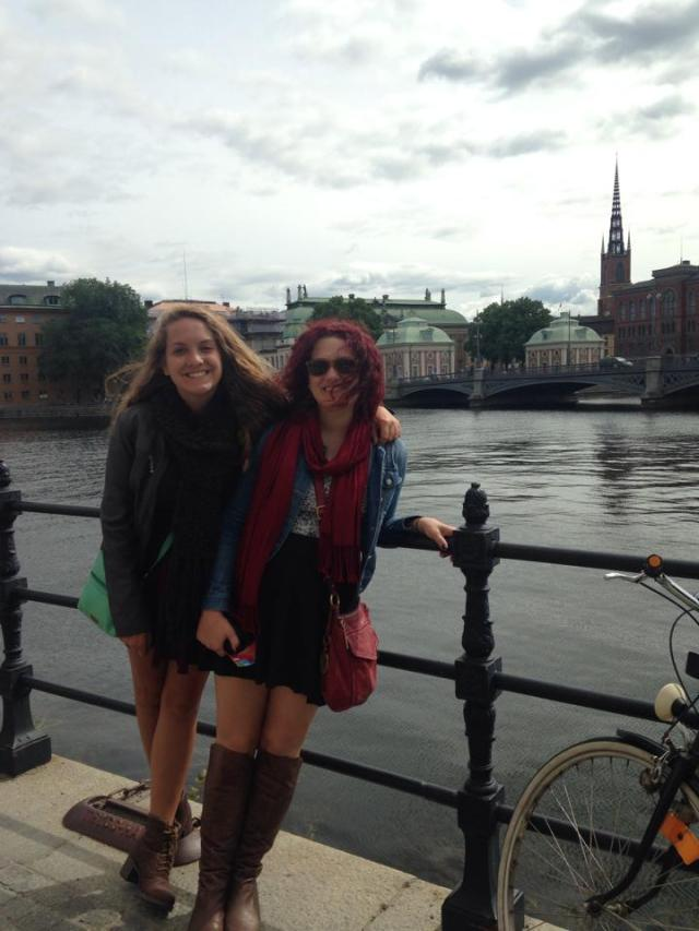 exploring stockholm just 40 minutes away from where shelby lives with her boyfriend Gustav