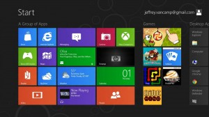 Windows 8 Consumer Preview Start Screen