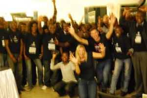group photo devs at blackberry hackathon nairobi #bbjamsessions