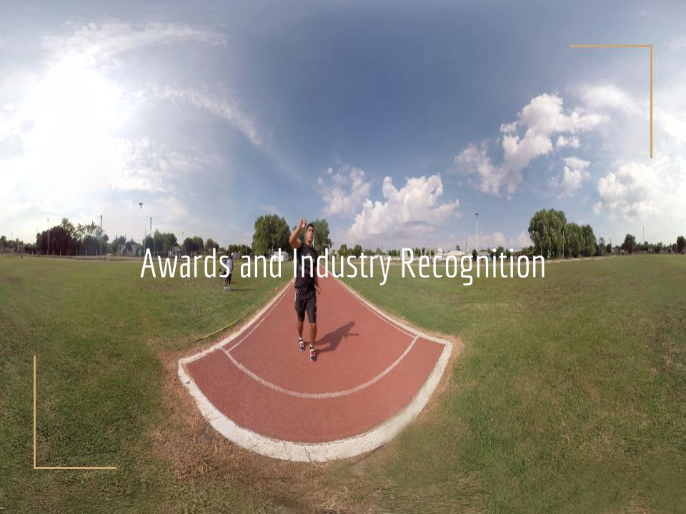 Virtual Reality Production Studio JYC VR Awards Industry Recognition