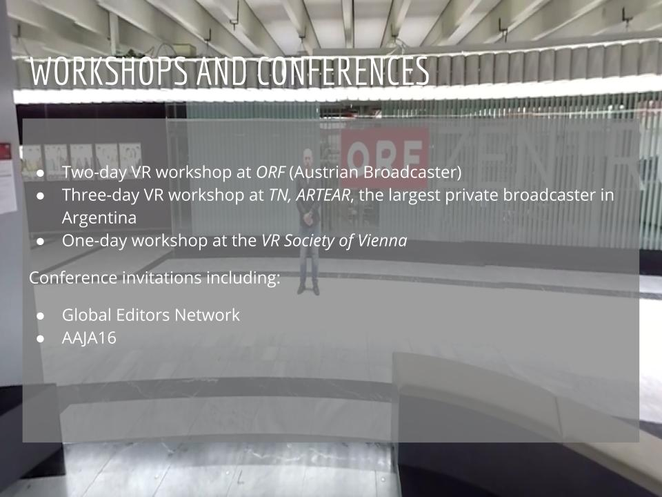 Virtual Reality Production Studio JYC VR Workshops Training Conferences