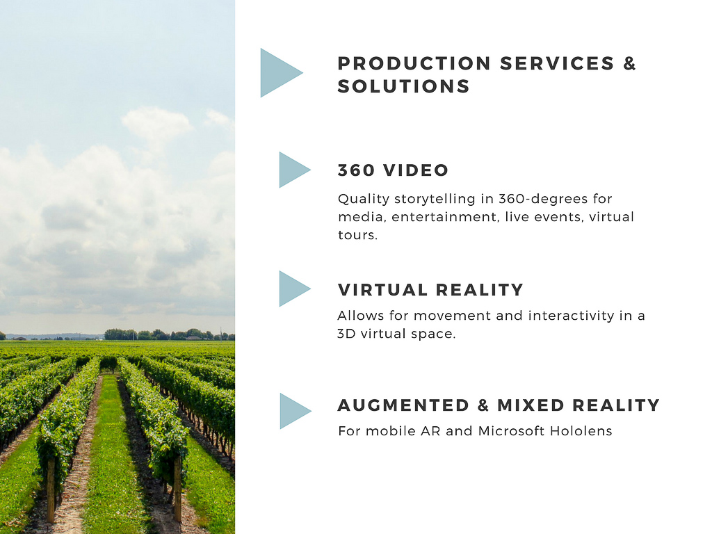 Virtual Reality Production Studio JYC VR 360 Video Services Production Homepage