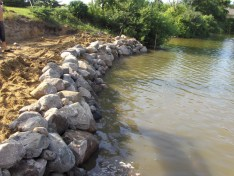 Large Boulder Sea Walls Project