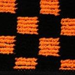 チェッカー オレンジ