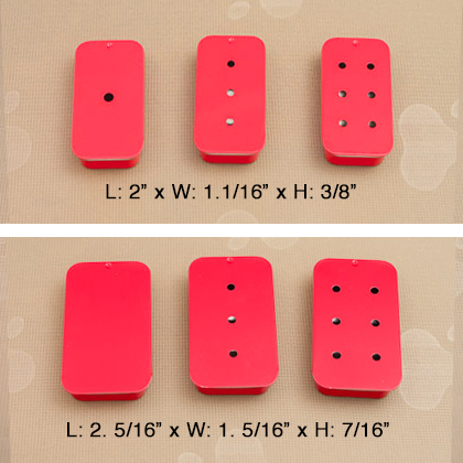 2 Sizes – Red Sliders