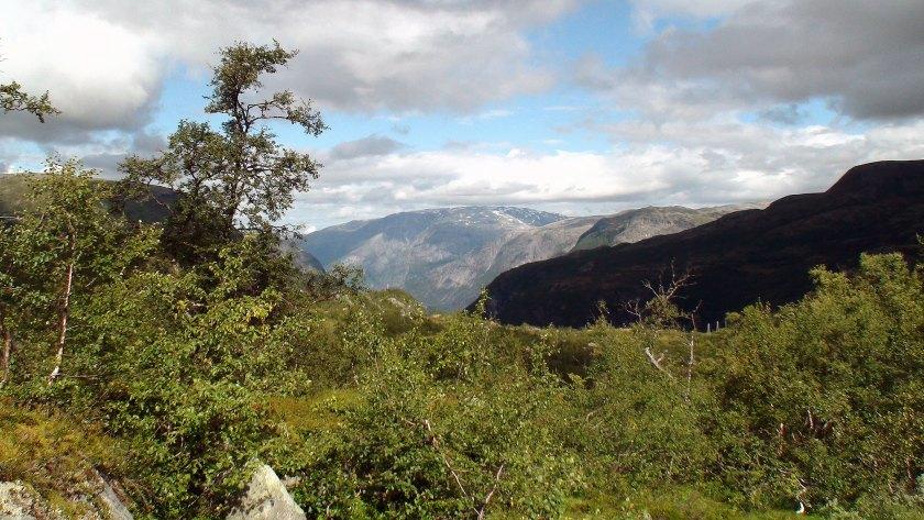 Valursdalen skjærer seg inn i fjellet.