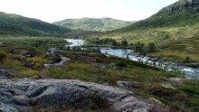 Myrene nedenfor Rundenuten og elva Veig ikke langt fra Vivelid.