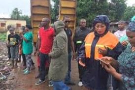 Le marché de Sonfonia-Gare assaini par l'épouse de Cellou Dalein Diallo