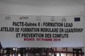 Boké: Ouverture d'un atelier de formation modulaire en Leadership et prévention des conflits dans la Région