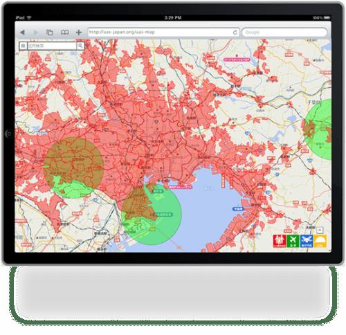JUIDAによるドローン専用飛行支援地図